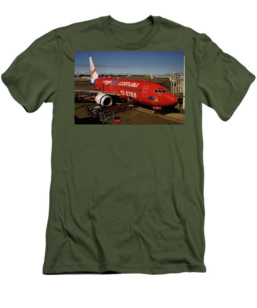 Boeing 737-7q8 Men's T-Shirt (Slim Fit) by Tim Beach