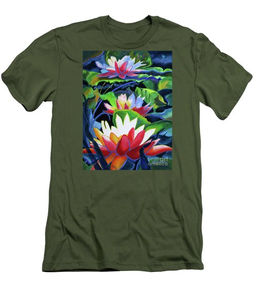 Bold Lilypads Men's T-Shirt (Athletic Fit)