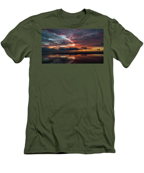 Bold Sunrise Delray Beach Florida Men's T-Shirt (Athletic Fit)