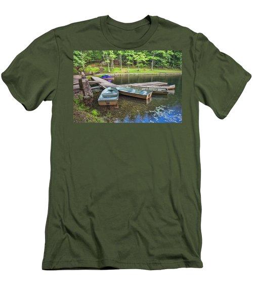 Boley Lake Men's T-Shirt (Slim Fit) by Mary Almond