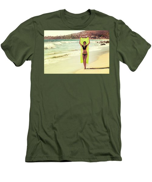 Bond Girl Laguna Beach Men's T-Shirt (Athletic Fit)