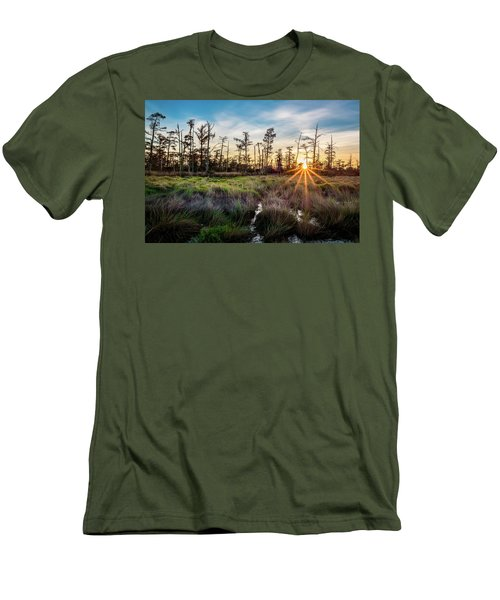 Bonnet Carre Sunset Men's T-Shirt (Slim Fit) by Andy Crawford