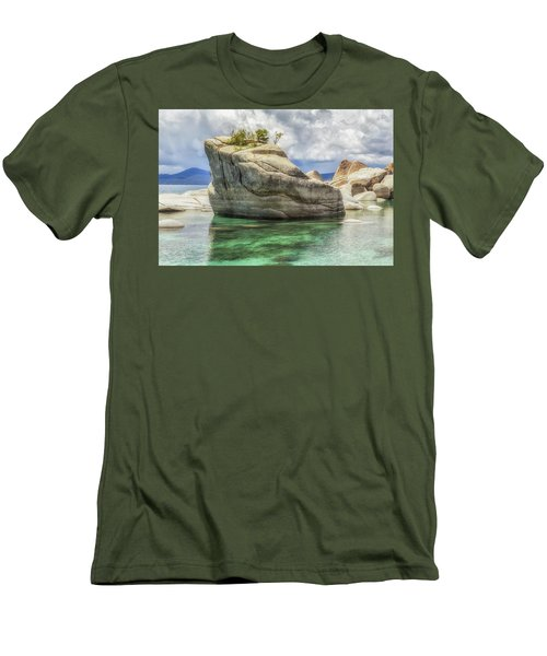 Bonsai Rock And Rain Shower Men's T-Shirt (Slim Fit) by Marc Crumpler