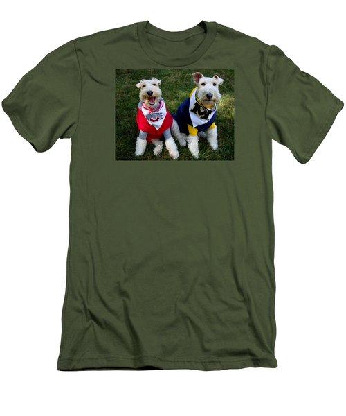 Border Battle Men's T-Shirt (Slim Fit) by Michiale Schneider