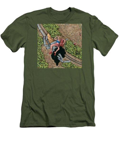 Borrachera Men's T-Shirt (Slim Fit) by Holly Wood