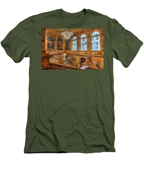 Men's T-Shirt (Slim Fit) featuring the photograph Boston Public Library Architecture by Joann Vitali