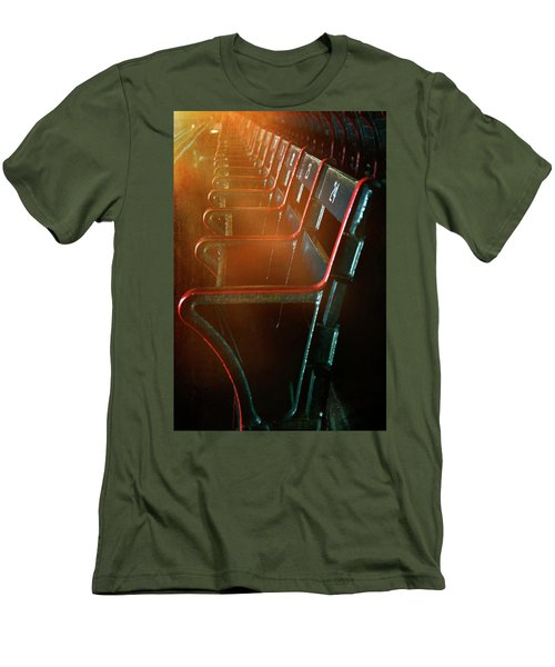 Men's T-Shirt (Athletic Fit) featuring the photograph Boston Red Sox Fenway Park Seats by Joann Vitali