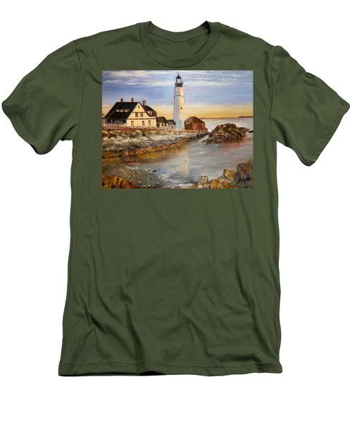 Boston Rocky Coast Men's T-Shirt (Athletic Fit)