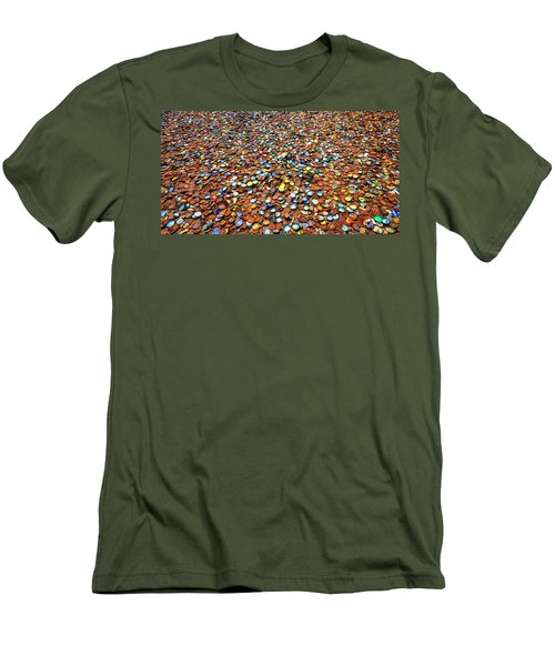 Bottlecap Alley Men's T-Shirt (Slim Fit) by David Morefield