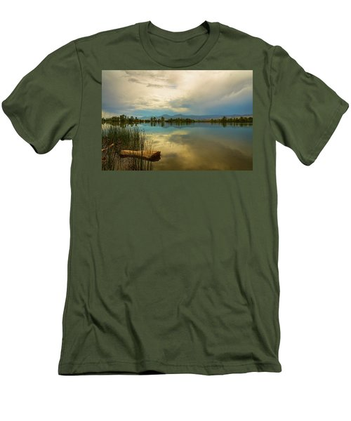Men's T-Shirt (Athletic Fit) featuring the photograph Boulder County Colorado Calm Before The Storm by James BO Insogna