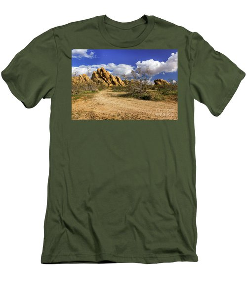 Boulders At Apple Valley Men's T-Shirt (Slim Fit) by James Eddy