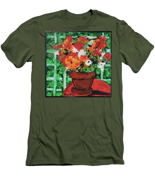 Bouquet A Day Floral Painting Original 59.00 By Elaine Elliott Men's T-Shirt (Athletic Fit)