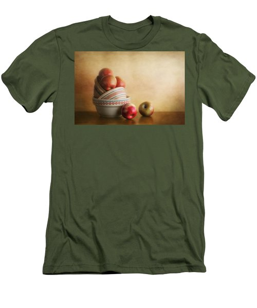 Bowls And Apples Still Life Men's T-Shirt (Athletic Fit)