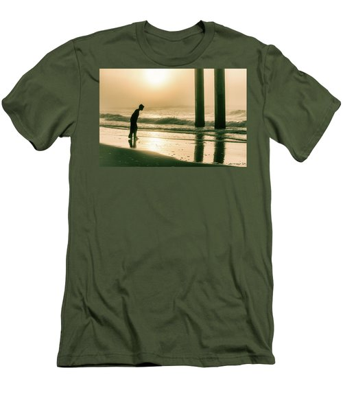Men's T-Shirt (Slim Fit) featuring the photograph Boy At Sunrise In Alabama  by John McGraw