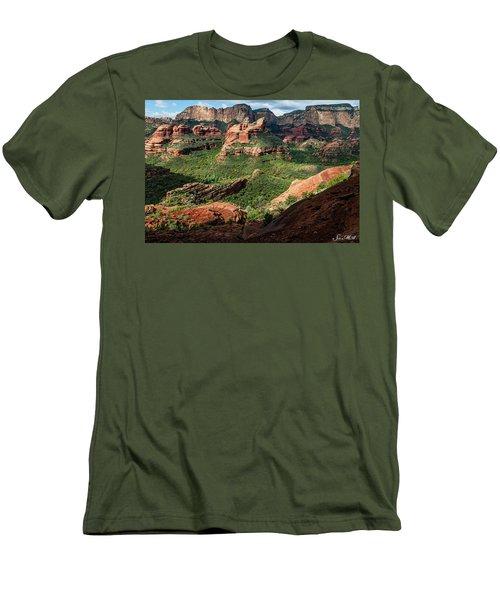 Boynton Canyon 05-942 Men's T-Shirt (Slim Fit) by Scott McAllister