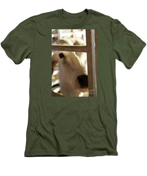 Men's T-Shirt (Slim Fit) featuring the photograph Brahma Love - 2 by Linda Shafer