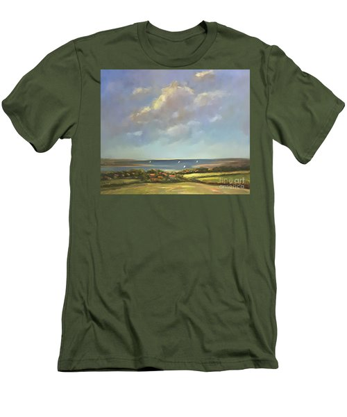 Brancaster Staithes, Norfolk Men's T-Shirt (Slim Fit) by Genevieve Brown