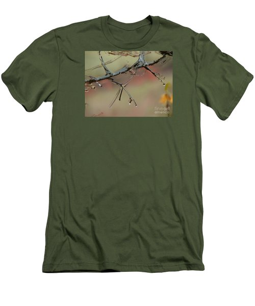 Branch With Water Abstract Men's T-Shirt (Slim Fit) by Craig Walters