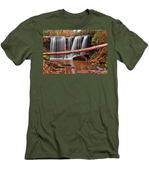 Brasstown Falls 002 Men's T-Shirt (Slim Fit) by George Bostian