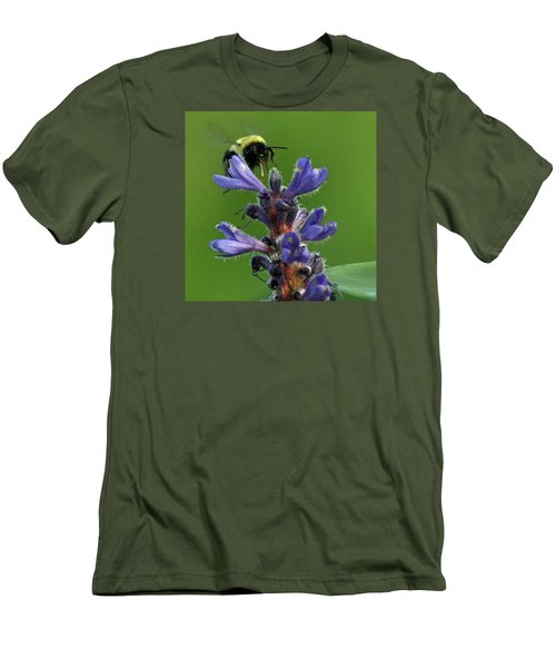Men's T-Shirt (Slim Fit) featuring the photograph Bumble Bee Breakfast by Glenn Gordon