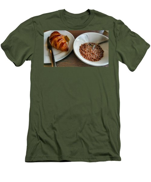 Breakfast Of Cereal And Croissant Men's T-Shirt (Slim Fit)