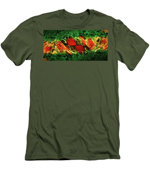 Breaking Out Abstract Men's T-Shirt (Athletic Fit)