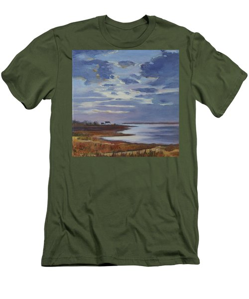 Breaking Up The Clouds Men's T-Shirt (Slim Fit) by Trina Teele