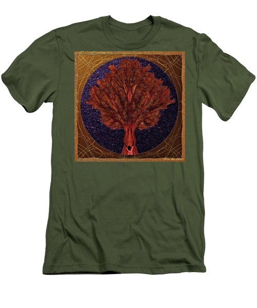 Men's T-Shirt (Athletic Fit) featuring the digital art Breath Spirit Life by Iowan Stone-Flowers