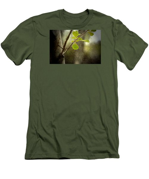 Breathe With Me Men's T-Shirt (Slim Fit) by Mark Ross