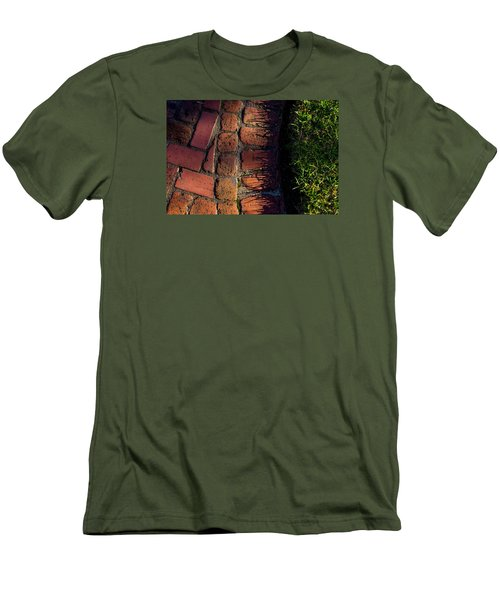 Brick Path In Afternoon Light Men's T-Shirt (Slim Fit) by Derek Dean