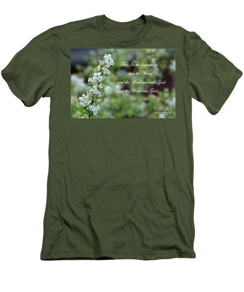 Bridal Wreath Christian Art Men's T-Shirt (Athletic Fit)