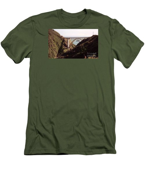 Bridge Highway 1 Coastal Road Men's T-Shirt (Athletic Fit)