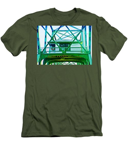 Men's T-Shirt (Slim Fit) featuring the photograph Bridge House by Adria Trail
