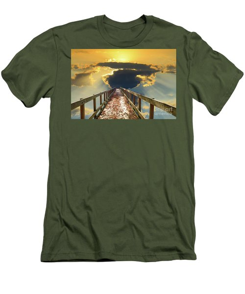 Bridge Into Sunset Men's T-Shirt (Slim Fit) by Inspirational Photo Creations Audrey Woods