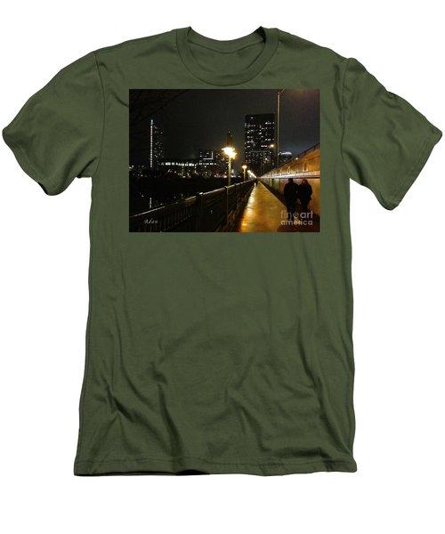 Bridge Into The Night Men's T-Shirt (Slim Fit) by Felipe Adan Lerma