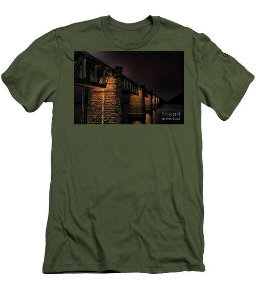 Bridge On Holy River Godavari Men's T-Shirt (Slim Fit) by Kiran Joshi
