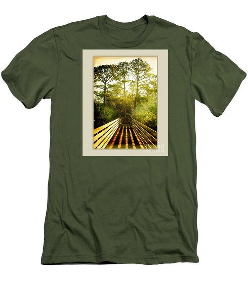 Bridge Shadows Men's T-Shirt (Slim Fit) by Linda Olsen