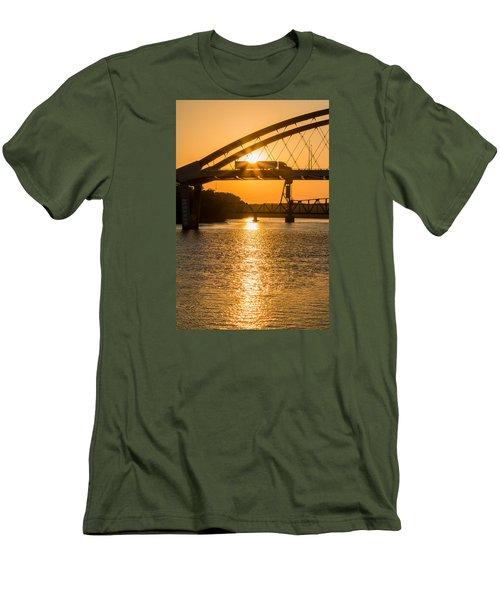Bridge Sunrise 2 Men's T-Shirt (Slim Fit) by Patti Deters