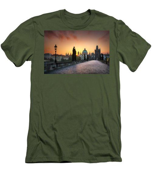 Bright Morning In Prague, Czech Republic Men's T-Shirt (Athletic Fit)