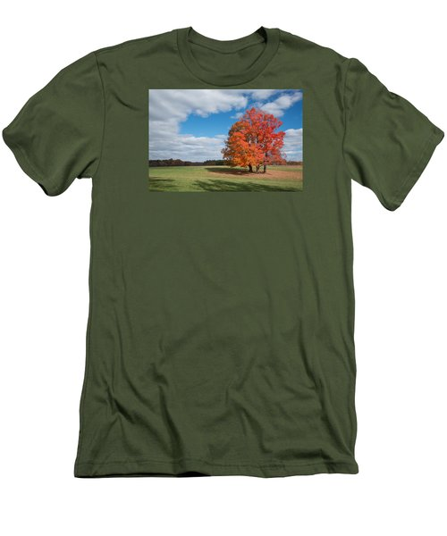 Bright Orange Tree In Va. Men's T-Shirt (Athletic Fit)