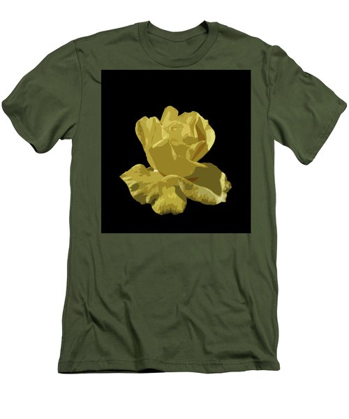 Men's T-Shirt (Slim Fit) featuring the photograph Bright Yellow Beauty by Laurel Powell