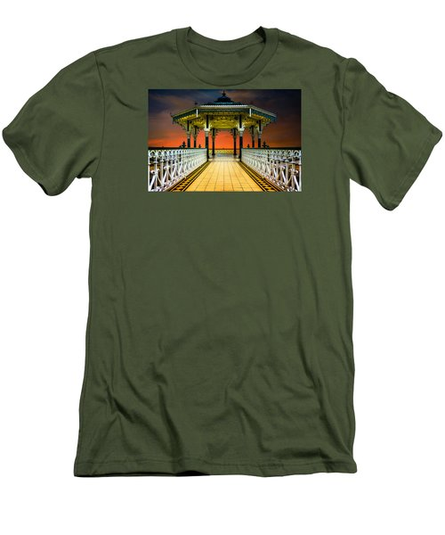 Men's T-Shirt (Athletic Fit) featuring the photograph Brighton's Promenade Bandstand by Chris Lord