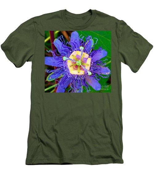 Brilliant Blue Flower Men's T-Shirt (Athletic Fit)