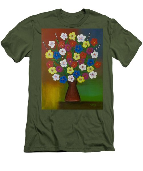 Brilliant Bouquet Men's T-Shirt (Slim Fit) by Teresa Wing