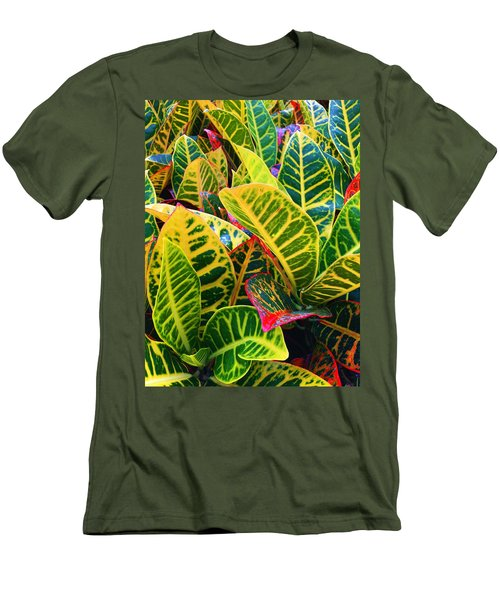Brilliant Crotons Men's T-Shirt (Slim Fit) by Kay Gilley