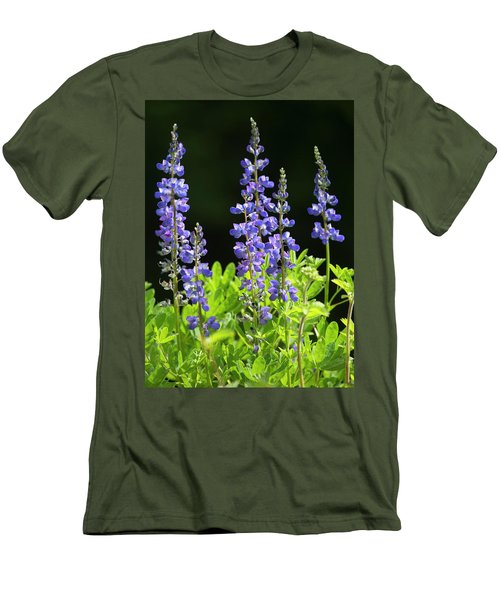Men's T-Shirt (Slim Fit) featuring the photograph Brilliant Lupines by Elvira Butler