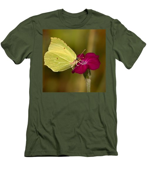 Men's T-Shirt (Slim Fit) featuring the photograph Brimstone 1 by Jouko Lehto