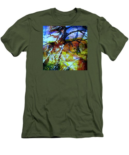 Men's T-Shirt (Slim Fit) featuring the mixed media Britney by Fania Simon
