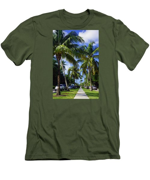 Broad Avenue South, Old Naples Men's T-Shirt (Slim Fit) by Robb Stan