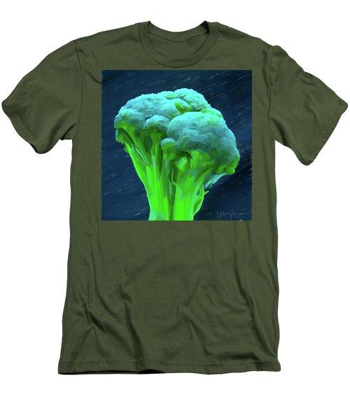 Broccoli 01 Men's T-Shirt (Slim Fit) by Wally Hampton